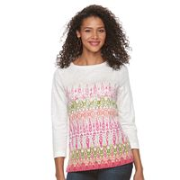 Women's Caribbean Joe Ombre Ikat Boatneck Top