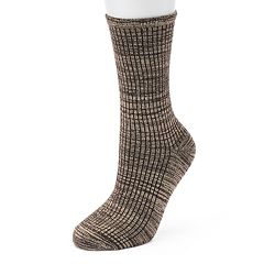 Women's Cuddl Duds Ribbed Space-Dyed Crew Socks