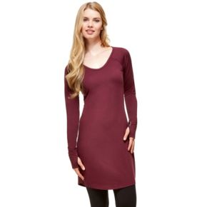 Women's Hottotties by Terramar Collins Thumb Hole V-Neck Tunic