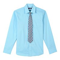 Boys 4-20 Chaps Stretch Shirt & Tie Set