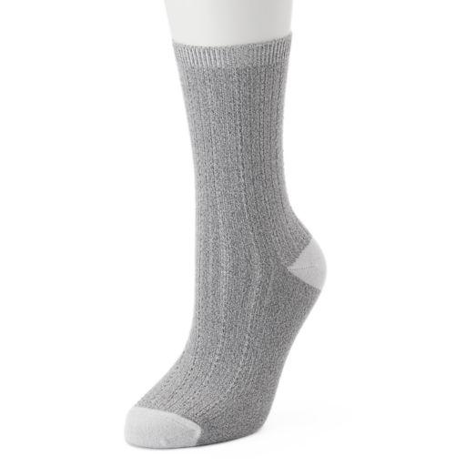 Women's Cuddl Duds Tuckstitch Crew Socks