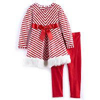 Girls 4-6x Bonnie Jean Striped Dress & Legging Set