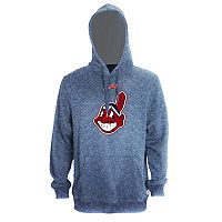 Men's Stitches Cleveland Indians Speckled Fleece Hoodie