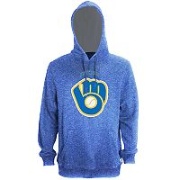 Men's Stitches Milwaukee Brewers Speckled Fleece Hoodie