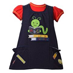 Baby Girl Bonnie Jean Bookworm Jumper & Bodysuit Set