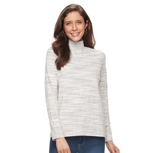 Women's Croft & Barrow® Long Sleeve Mockneck Top