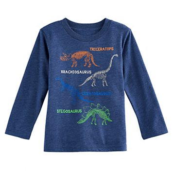 Toddler Boy Jumping Beans® Dinosaur Diagram Long Sleeve Graphic Tee