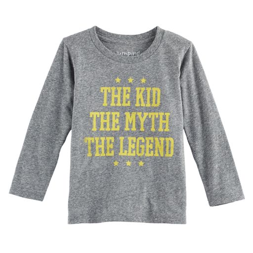 "Toddler Boy Jumping Beans® ""The Kid The Myth The Legend"" Long Sleeve Graphic Tee"