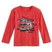 Toddler Boy Jumping Beans® Firetruck Diagram Long Sleeve Graphic Tee