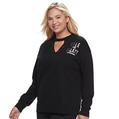 Juniors' Plus Size Her Universe Star Wars 'Rule The Galaxy' Choker Neck Sweatshirt