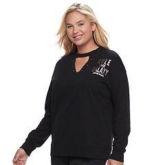 Juniors' Plus Size Her Universe Star Wars 'Rule The Galaxy' Choker Neck Sweatshirt