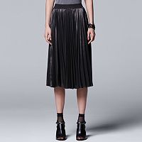 Women's Simply Vera Vera Wang Pleated Shine Skirt