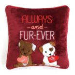 "Celebrate Valentine's Day Together ""Always and Fur-Ever"" Mini Throw Pillow"