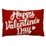 "Celebrate Valentine's Day Together ""Happy Valentine's Day"" Oblong Throw Pillow"