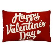 Celebrate Valentine's Day Together 'Happy Valentine's Day' Oblong Throw Pillow