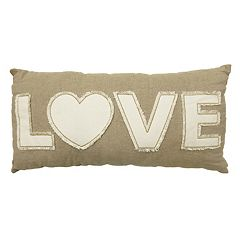 Celebrate Valentine's Day Together 'Love' Oblong Throw Pillow