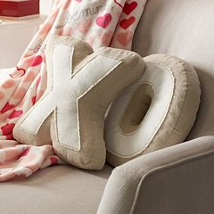Celebrate Valentine's Day Together 'X ' & 'O' Shaped Throw Pillow Set