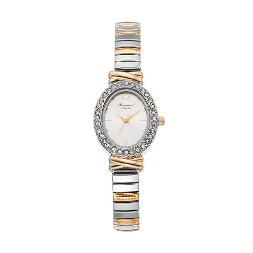 Precision by Gruen Women's Crystal Two Tone Expansion Watch