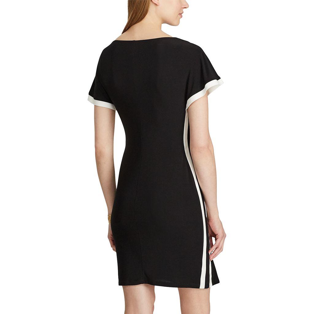 Women's Chaps Two-Tone Sheath Dress