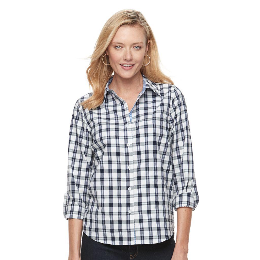 Caribbean Joe Women's Cotton Long Sleeve Shirt