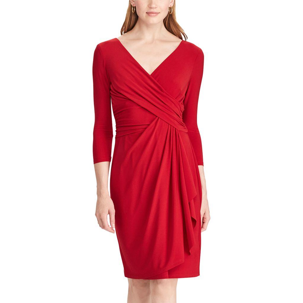 Women's Chaps Jersey Faux Wrap Dress