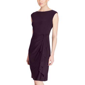 Women's Chaps Ruffled Jersey Sheath Dress