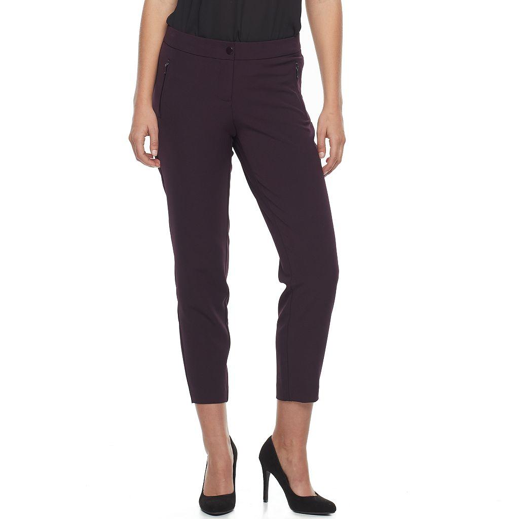 Women's Apt. 9® Zipper Accent Ankle Pants