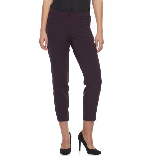 Women's Apt. 9® Zipper Accent Ankle Pants