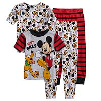 Disney's Mickey Mouse Toddler Boy 4 pc Mickey Mouse & Pluto Pajama Set