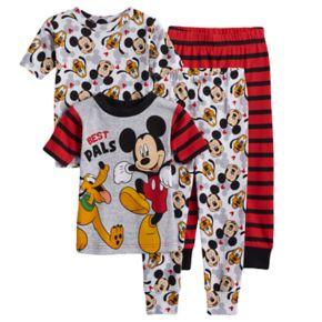 Disney's Mickey Mouse Toddler Boy 4-pc. Mickey Mouse & Pluto Pajama Set