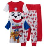 Toddler Boy Paw Patrol 4 pc Marshall, Chase & Rubble Pajama Set