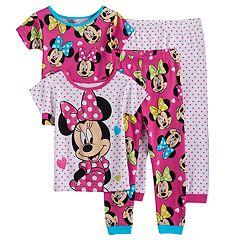 Disney's Minnie Mouse Toddler Girl 4 pc Pajama Set