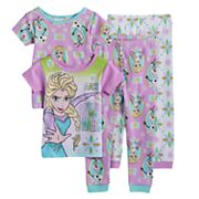 Disney's Frozen Toddler Girl 4 pc Elsa & Olaf Pajama Set