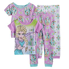 Disney's Frozen Toddler Girl 4-pc. Elsa & Olaf Pajama Set