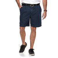 Big & Tall Croft & Barrow® Relaxed-Fit Side-Elastic Denim Pleated Cargo Shorts