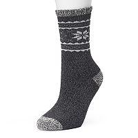 Women's Cuddl Duds Cashmere Fair Isle Crew Socks