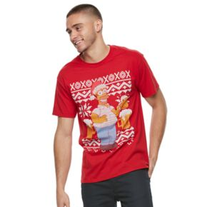 Men's Homer Simpson Ugly Christmas Sweater Tee