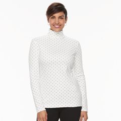 Women's Croft & Barrow® Long Sleeve Turtleneck Top