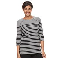 Women's Croft & Barrow® Button Shoulder Tunic