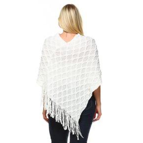 Plus Size White Mark Frostline Poncho