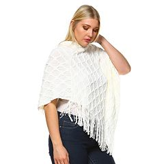 Plus Size White Mark Frostline Poncho