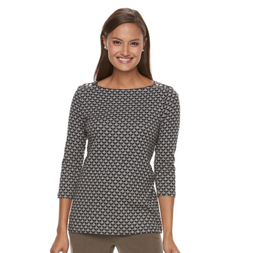 Women's Croft & Barrow® Button-Shoulder Top