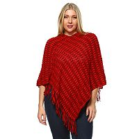 Plus Size White Mark Nixie Poncho