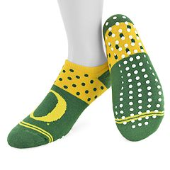Women's Mojo Oregon Ducks Speckled No-Show Grip Socks