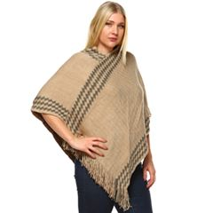 Plus Size White Mark Nevaeh Poncho
