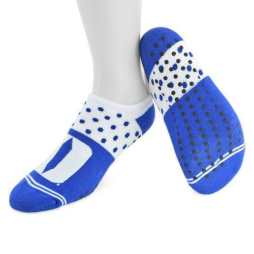 Women's Mojo Duke Blue Devils Speckled No-Show Grip Socks