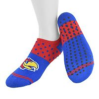Women's Mojo Kansas Jayhawks Speckled No-Show Grip Socks