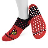 Women's Mojo Louisville Cardinals Speckled No-Show Grip Socks