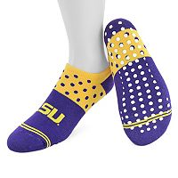 Women's Mojo LSU Tigers Speckled No-Show Grip Socks