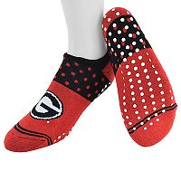 Women's Mojo Georgia Bulldogs Speckled No-Show Grip Socks